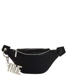 True Religion Black Chain Belt Fanny Pack