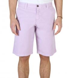 Armani Jeans Light Purple Solid Casual Shorts