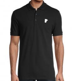 Versace Collection Black Short Sleeve Polo