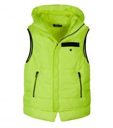 Diesel Neon Yellow Sleeveless Zipper Vest