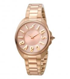 Just Cavalli Rose Gold Logo Dial Watch