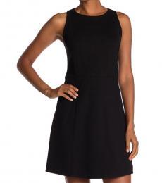Kate Spade Black Paneled Ponte Dress