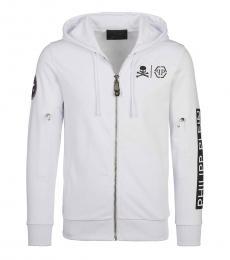 Philipp Plein White Sleeve Logo Jacket