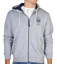 Hackett Grey Logo Hoodie Jacket