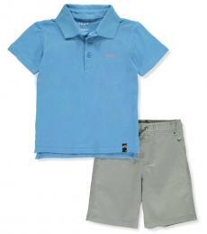 DKNY 2 Piece Polo/Shorts Set (Little Boys)