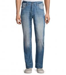 True Religion Light Blue Ricky Straight Leg Jeans