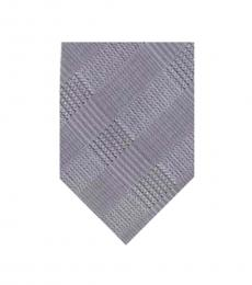Calvin Klein Grey Tonal Plaid Slim Tie