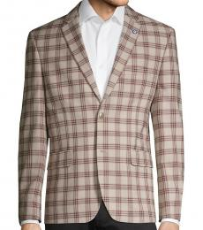 Ben Sherman Beieg Standard-Fit Plaid Sportcoat