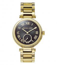 Michael Kors Black Gold Logo Watch