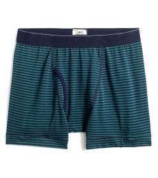 J.Crew Green Striped Knit Boxers