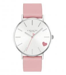 Coach Pink Heart Logo Watch