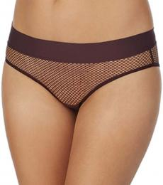 DKNY Purple Mesh Bikini Bottom