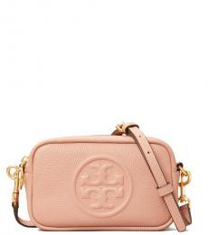 Tory Burch Pink Perry Bombe Mini Crossbody Bag