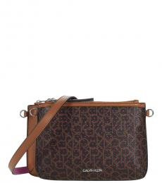 Calvin Klein Dark Brown Key Item Small Crossbody Bag