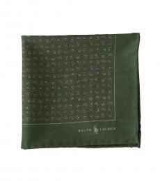Ralph Lauren Olive allover Pattern Pocket Square