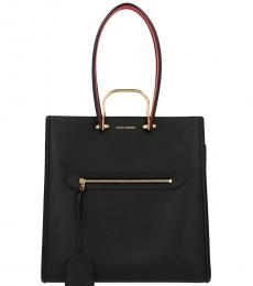 Alexander McQueen Black The Tall Story Large Tote