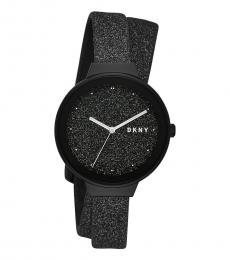 DKNY Black Astoria Glitter Watch