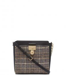 Black Camille Medium Crossbody Bag
