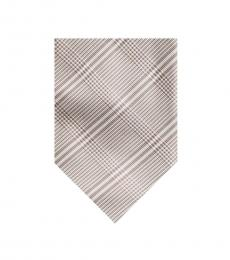Pink Streamline Plaid Silk Tie