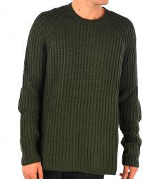 Neil Barrett Military Green Ribbed Sweater