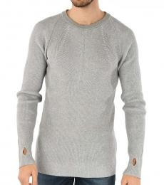 Grey Gold Cotton Kaserati Sweater