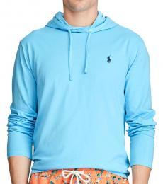 Ralph Lauren Blue Jersey Hooded T-Shirt