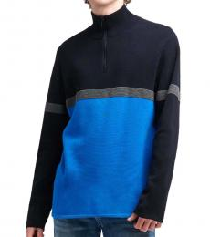 DKNY Princess Blue Logo Colorblock Pullover