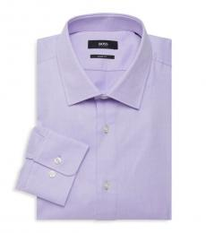 Hugo Boss Purple Marley Sharp-Fit Dress Shirt