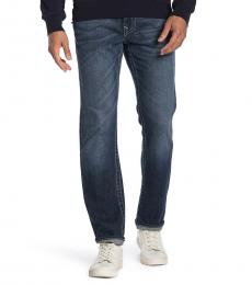 Dark Blue Skinny Flap Pocket Jeans