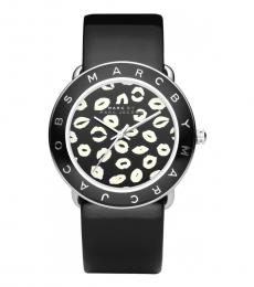 Marc Jacobs Black Graphic Dial Watch