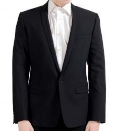 Dolce & Gabbana Black Wool One Button Blazer