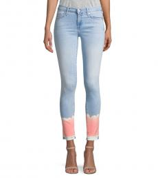 7 For All Mankind Coral Beach Skinny Cropped Jeans