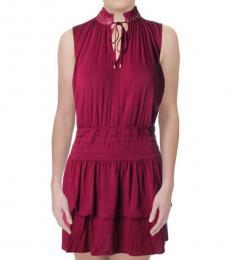 Juicy Couture Sugar Beet Ruffled Mini Dress