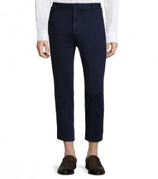 Navy Sulfur Slim Straight Crop Pant
