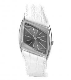 Off White Parallelogram Crocodile Watch
