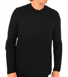 Neil Barrett Black Ribbed Sweater