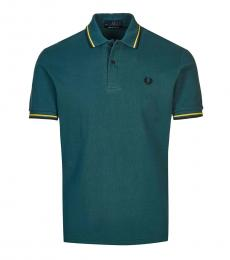 Fred Perry Teal Contrast Collar Polo