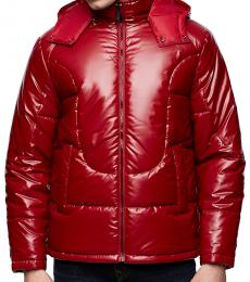 True Religion Ruby Red Puffer Jacket