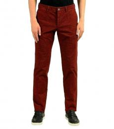 Hugo Boss Maroon Slim Stretch Casual Pants