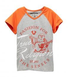 True Religion Girls Grey Fashion Sense T-Shirt