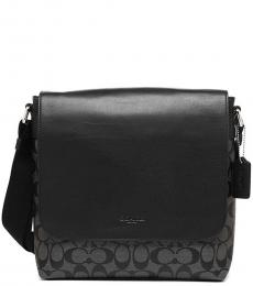 Coach Black Charles Large Messenger Bag