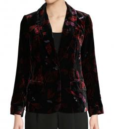 Black Velvet Shawl Collar Jacket