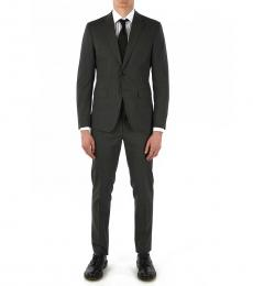 Dsquared2 Grey Wool Manchester Suit