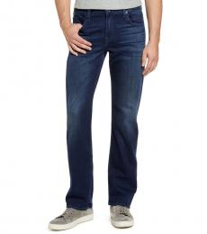 7 For All Mankind Dark Blue Austyn Relaxed Fit Jeans