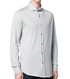 Brunello Cucinelli Grey Classic Buttoned Shirt