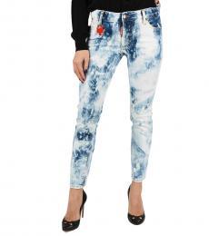 Light Blue Runway Bleached Jeans