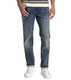 True Religion Blue Rocco Flap Skinny Jeans
