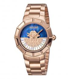 Roberto Cavalli Rose Gold Classic Watch