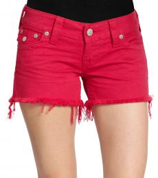 True Religion Faded Cherr Keira Low Rise Cut Off Shorts
