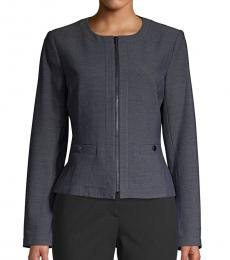 Grey Zip Front Jacket